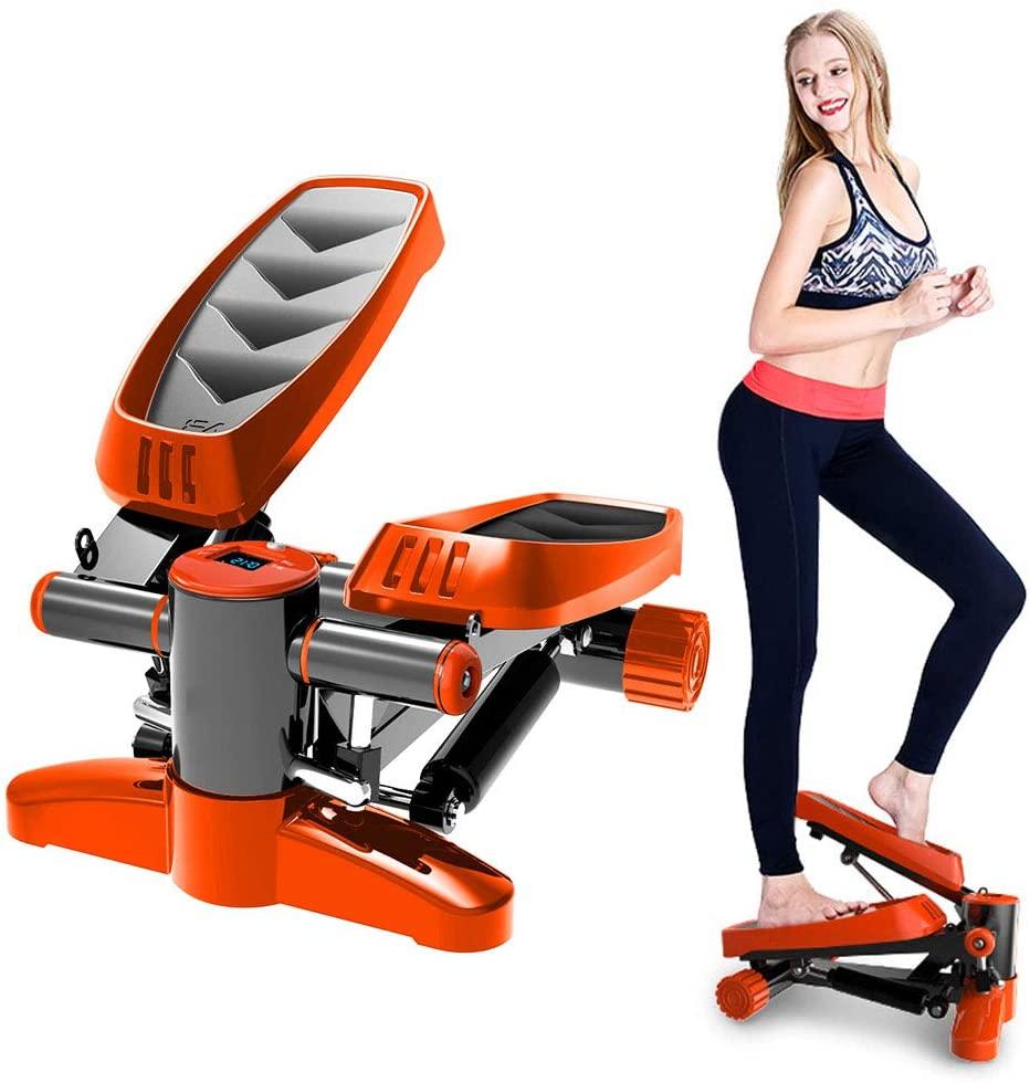 Aokeou ステッパー 自宅で有酸素運動 フィットネス ダイエットに最適 健康器具 運動器具 静音仕様 発汗サウナベルト エクササイズバンド 美尻 美脚脂肪燃焼